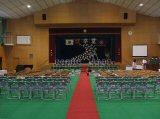 卒業式会場準備