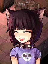 ネコを持つ少女