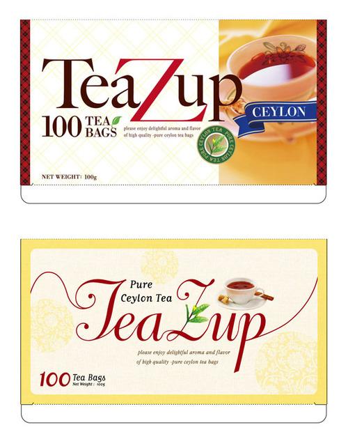 紅茶ティーバッグの箱デザイン