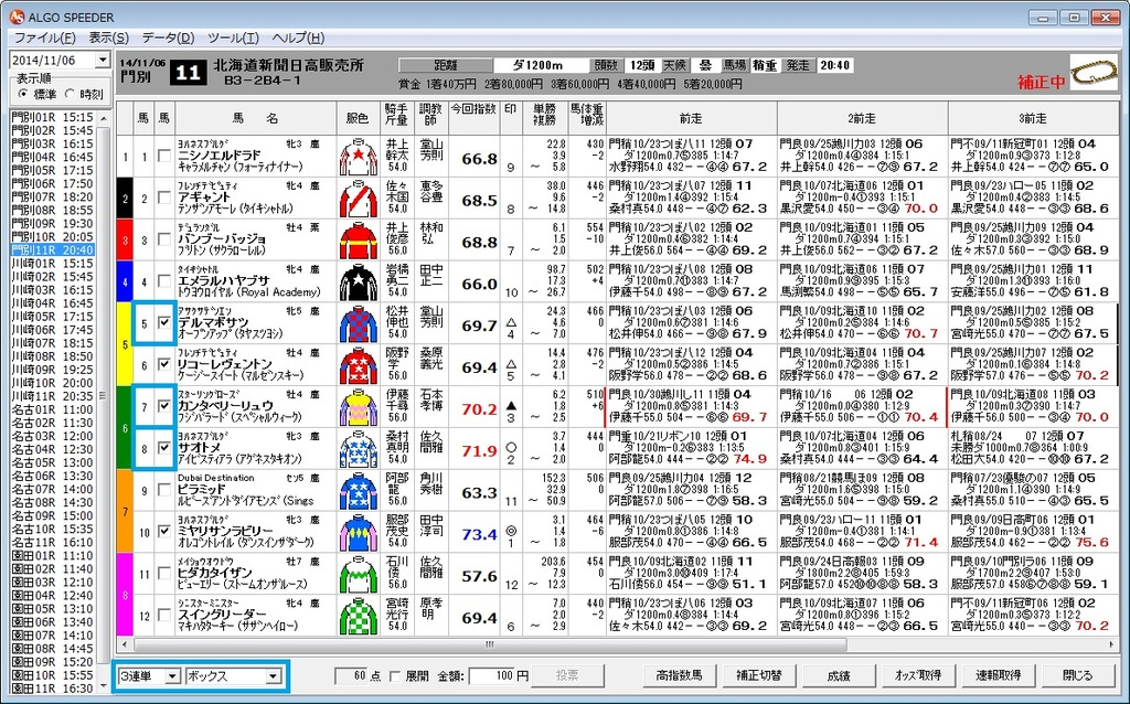 20141106門別11R