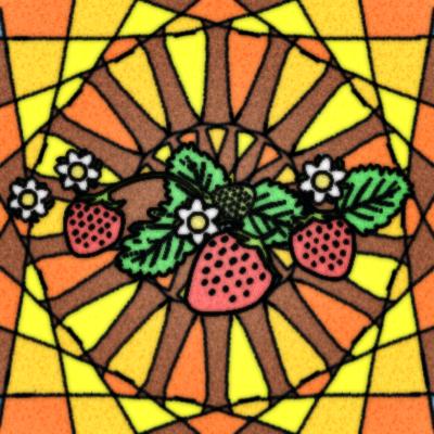 苺ステンドグラス