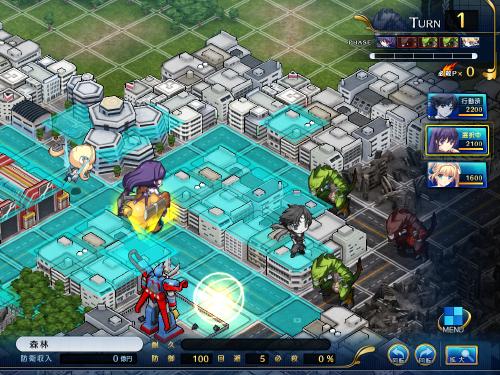 ぶれブラゲーム画面