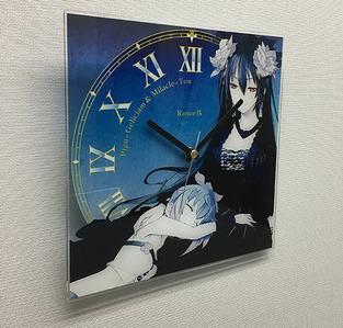 アクリル掛け時計_写真