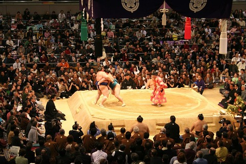 2006_March_Grand_Sumo_Tournament_in_Osaka