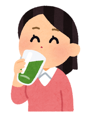 drink_aojiru_woman