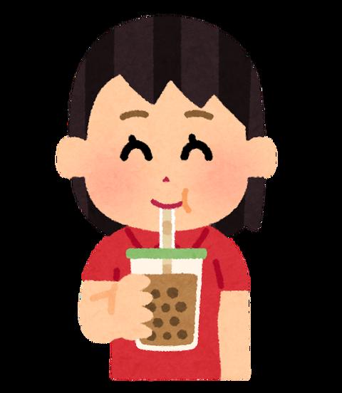 drink_tapioka_tea_woman