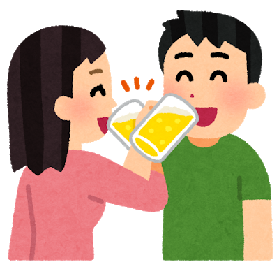 couple_cross_kanpai_beer