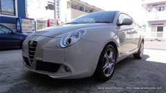 Alfa Romeo MITOにDLSスピーカー取り付け。