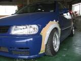 VW POLO、オーバーフェンダーワンオフ製作完成です。