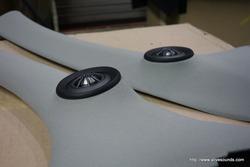 カングーにDLS RS6.2スピーカー再取付、スーパー3点セット施工。大阪府より