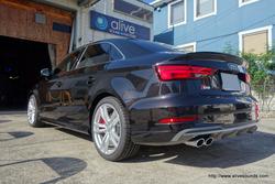 アウディS3 Sedanに『スーパーデッドニング・フロント&リア同時施工』の施工後のご感想メール頂きました。