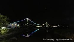 六甲山頂からの夕陽と神戸の夜景、そして逆さ明石大橋