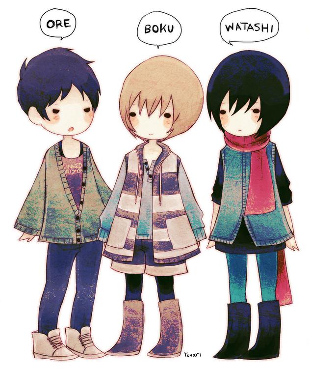 ore_boku_watashi___by_ruuari-d7kcrte