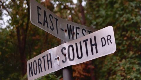 north-south