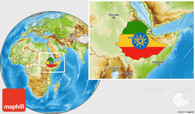 flag-location-map-of-ethiopia-physical-outside