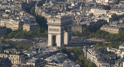 the Arch De Triomphe in Paris