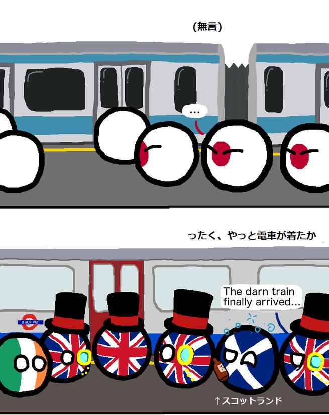 電車の乗り方 ポーランドボール