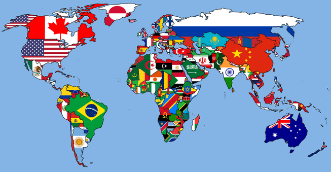world-flag-map