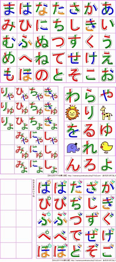 mamanoyume-hiragana-chart