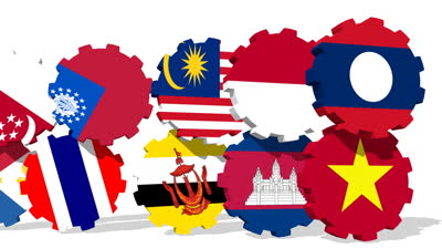 stock-footage-asean-members-national-flags-on-rolling-gears