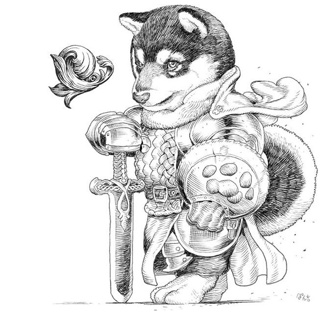 dog-cat-knights-art-ponkichi-5e0c92b16d9d4__700
