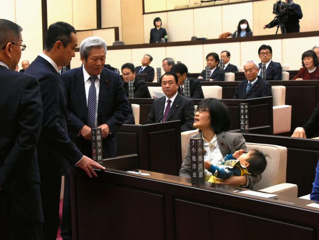 Japanese politician kicked out of meeting