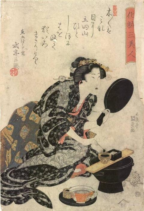 Kunisada-woman-blackening-teeth-c-1815