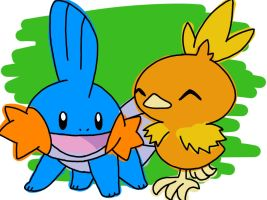 mudkip_and_torchic_by_i_am_timlord-d7u15k3