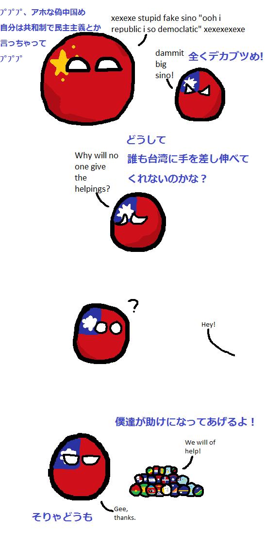台湾を認識する国々 ポーランドボール