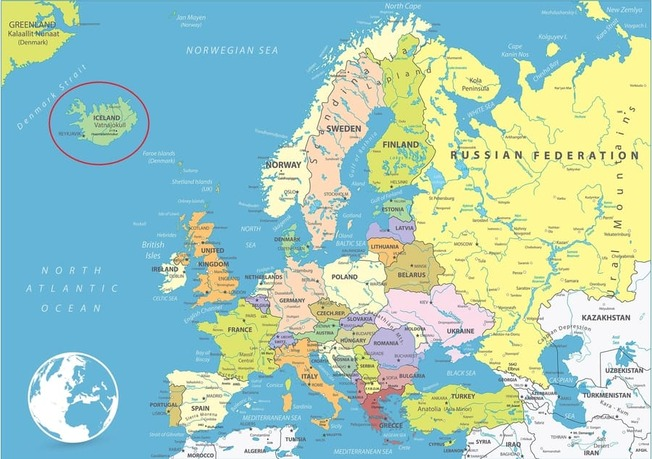 Europe-map-where-is-Iceland