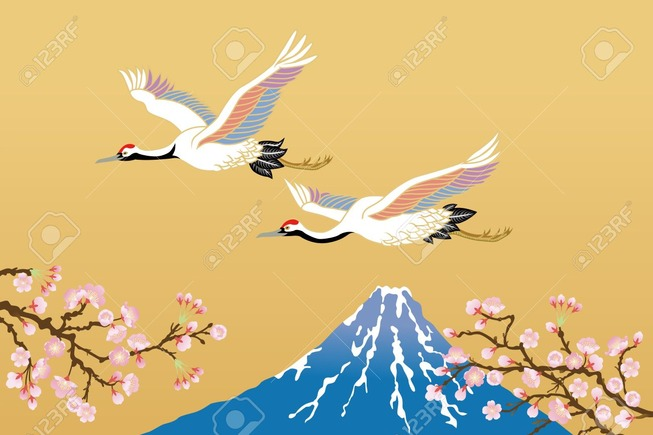 11217192-japanese-crane-and-mt-fuji