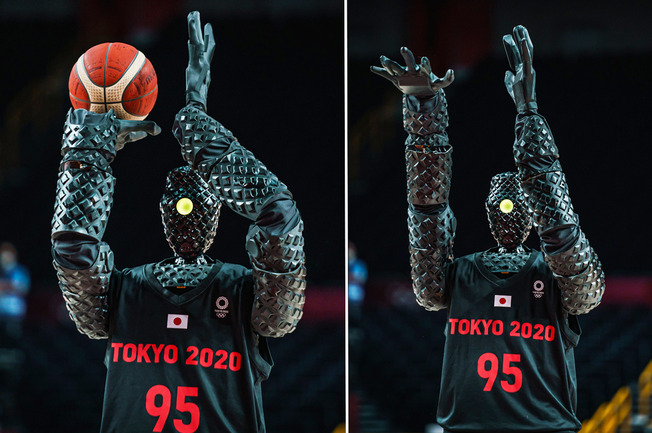 Tokyo-Olympics-2021-Basketball-throwing-robot-by-Toyota
