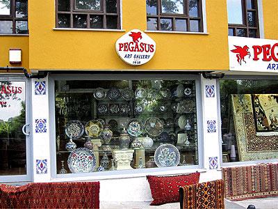 スルタンアフメット駅の絨毯の店 Pegasus Art Gallary
