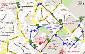トプカプ宮殿からグランドバザール地図