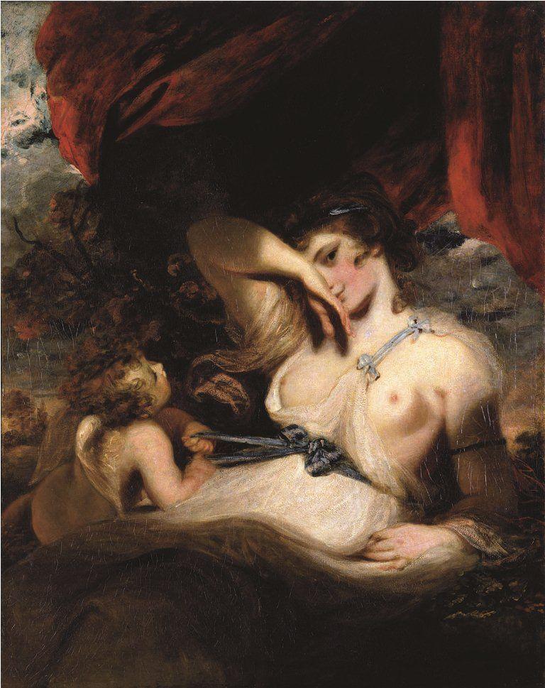 ジョシュア・レノルズ、《ウェヌスの帯を解くクピド》、1788年