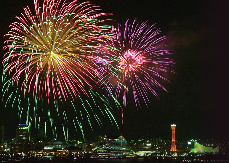 みなとこうべ海上花火大会 神戸 画像