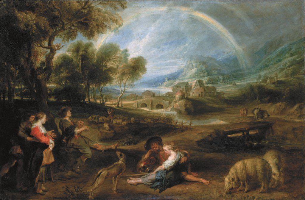 ペーテル・パウル・ルーベンス、《虹のある風景》、1632頃-1635年