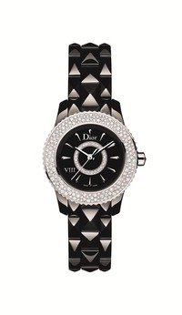 小3_DIOR VIII BLACK QUARTZ DIAMOND SNOW-SET BEZEL 28mm