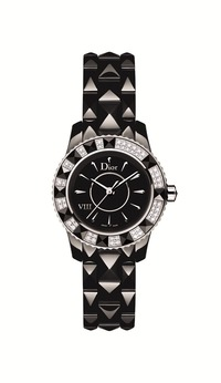小2_DIOR VIII BLACK QUARTZ DIAMOND-SET BEZEL 28mm