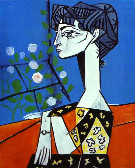 Pablo Picasso - Jacqueline with Flowers By jmussuto