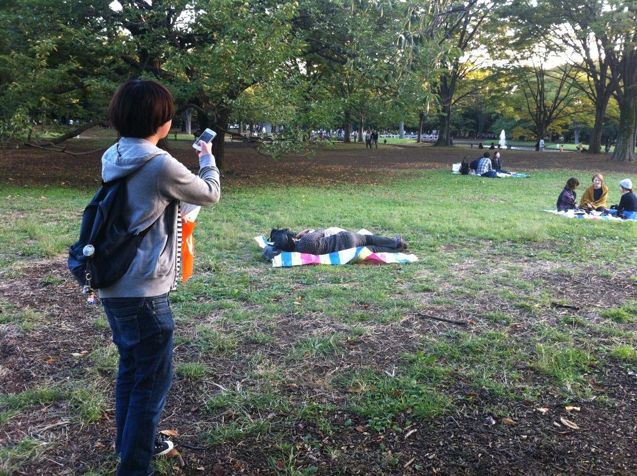 少年アヤちゃん 代々木公園 東京散歩