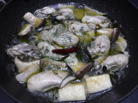 牡蠣のアヒ~ジョ