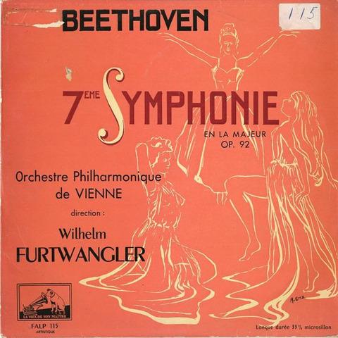 FR EMI FALP115 ヴィルヘルム・フルトヴェングラー ベートーヴェン・交響曲7番