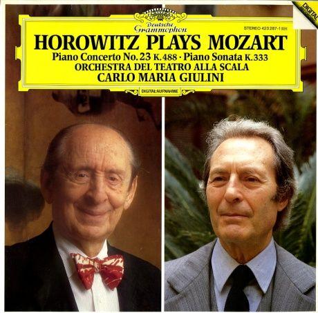 DE DGG 423 287-1 ウラジーミル・ホロヴィッツ カルロ・マリア・ジュリーニ スカラ座管 モーツァルト ピアノ協奏曲23番・ピアノ奏鳴曲KV333