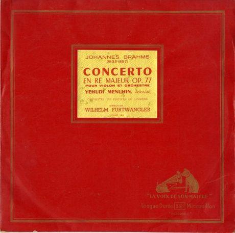 FR EMI FALP122 メニューイン&フルトヴェングラー ブラームス・ヴァイオリン協奏曲