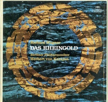 DE DGG  104 966/68 カラヤン ワーグナー・ラインの黄金(全曲)