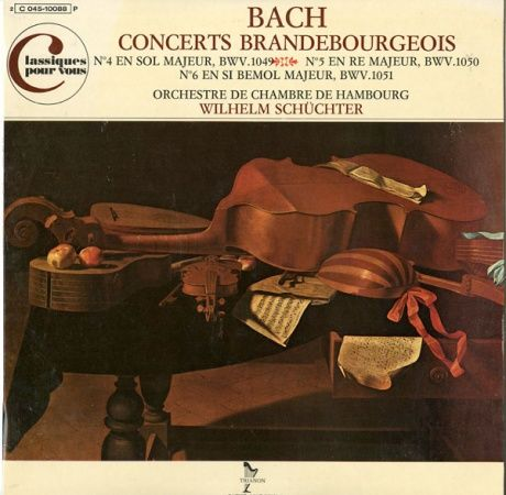 FR TRIANON 2C045-10088 シュヒター ハンブルク室内管 バッハ・ブランデンブルク協奏曲