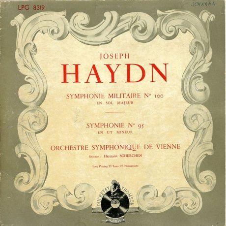 FR DT LPG8319 ヘルマン・シェルヘン ハイドン・交響曲95番/100番「軍隊」