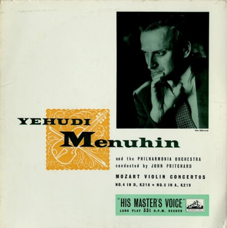 GB  EMI  ALP1281 ユーディ・メニューイン モーツアルト・ヴァイオリン協奏曲