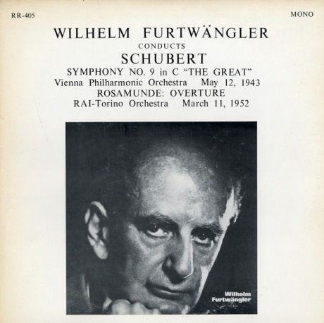 US RR RR405 ヴィルヘルム・フルトヴェングラー シューベルト・交響曲9番